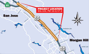 San Jose District Map by Caltrans District 4 101 Morgan Hill Rehab