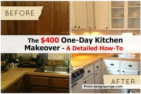 the 400 one day kitchen makeover a detailed how to