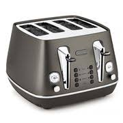 Delonghi Four Slice Toaster Toasters Delonghi U0026 Brevile Toasters Peter U0027s Of Kensington