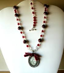 red crystal bead necklace images Red beaded necklace rhinestone pendant swarovski elements crystals jpg
