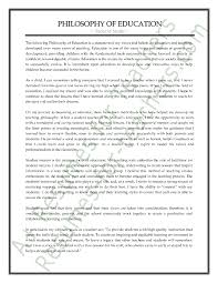 Resume For Teachers Sample by Sample Philosophy Of Education Statement To Show Teaching Passion