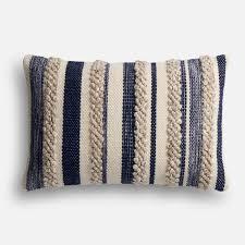 Pier One Pillows And Cushions Magnolia Home Zander Navy U0026 Ivory Lumbar Pillow Products