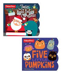 twas the night before christmas u0026 five little pumpkins board book