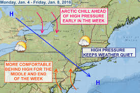 Weather Map New York by High Pressure Keeps Central New York Weather Quiet This Week
