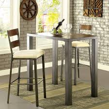 red pub table and chairs red barrel studio thurman 3 piece pub table set reviews wayfair