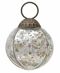 antiqued silver mercury glass tree ornaments trees