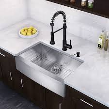 vigo edison single handle pulldown spray kitchen faucet with soap