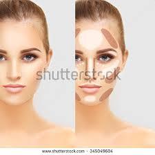 Makeup Contour contouringmake contour highlight makeup stock photo