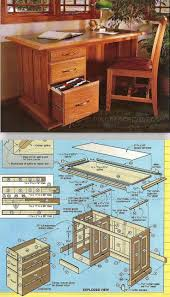 Free Woodworking Plans Writing Desk by Best 25 Woodworking Desk Plans Ideas On Pinterest Build A Desk