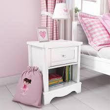 Victoria Girls White 1 Drawer Bedside Table Furniture123