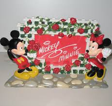 authentic disney parks mickey and minnie mouse picture frame