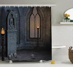 gothic spooky door shower curtain doors halloween ideas and