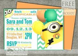 minion baby shower idea minion baby shower invitation template and size of baby