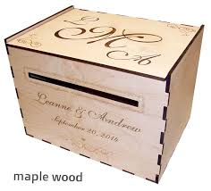 personalized boxes wood wedding card box personalized elkwood arts