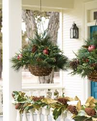 led mixed pine hanging basket balsam hill