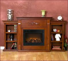 White Electric Fireplace With Bookcase Fireplace Bookshelves Built Ins Southern Enterprises Griffin