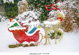 Outdoor Christmas Decorations Reindeer Sleigh by Reindeer Sleigh Snow Stock Photos U0026 Reindeer Sleigh Snow Stock