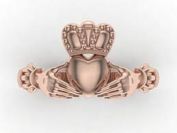the claddagh ring claddagh ring 3d printable model cgtrader