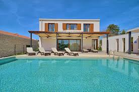 home with pool villa gialla modern design house with pool for holidays in