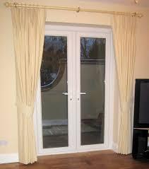 Patio Door Frames Interior Traditional Yellow Linen Tie Back Curtain With Golden Rod