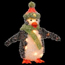 national tree company pre lit 18 in tinsel penguin mzpg 18al