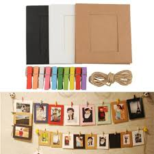 photo hanging clips 10x paper photo frame diy picture hanging album frame gallery with