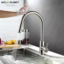 touch faucets for kitchen new lead free sus304 stainless steel pull out touch faucet kitchen