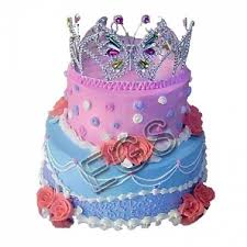 6lbs princess crown cake gift delivery pakistan