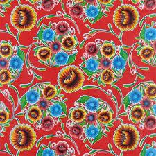 red bloom oilcloth fabric onlinefabricstore net