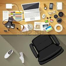 Graphic Designer Desk Designer Desk Photographer Top View Of Desk Background Royalty