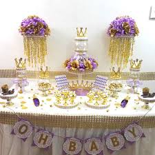 lavender baby shower lavender and gold baby shower candy buffet centerpiece with