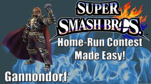 Gannon Home Run Contest Made Easy Gannon 6 500 Ft Super Smash Bros