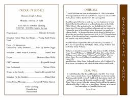 Templates For Funeral Program Obituary Program Sample Obituary Template Memorial Service Program
