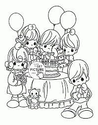 kids and birthday coloring page for kids holiday coloring pages