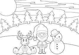 santa and reindeer coloring pages printable reindeer santa and