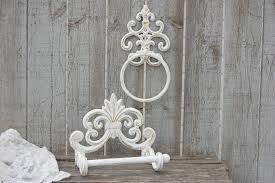 shabby chic crystal ring holder images Shabby chic toilet paper holder towel ring gold white jpg