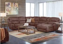cindy crawford recliner sofa cindy crawford home breckenridge hills mahogany 7 pc reclining