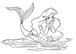 Coloriage princesse disney sirene  Bondless