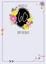 60 Birthday Cards Fabulous At 60 Birthday Card Karenza Paperie