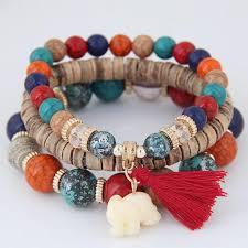 bead bracelet set images The stunning blossom bracelet wooden beads charm bracelet set jpg
