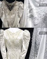 Dry Clean Wedding Dress Before U0026 After Restoration Dry Cleaning A Cleaner World