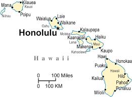 map of hawaii cities hawaii political map