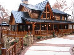 wrap around porch homes the wildcat trail 2 story custom log home plan