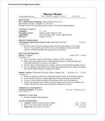 Sample Resume It Professional by Download It Resumes Haadyaooverbayresort Com
