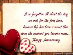 Sweet Wedding Anniversary Wishes For Wedding Anniversary Wishes For Husband With Combined Hearts