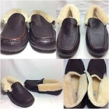 ugg grantt sale 55 ugg other ugg grantt mens china tea leather slippers sz