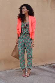 jumpsuit ideas colorful jumpsuit and blazer sazan