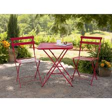 chair impressive french metal bistro chairs with red colour near