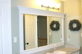 How To Make A Bathroom Mirror Frame Diy Bathroom Mirror Frame Ideas Bathroom Mirror Frame Bathroom