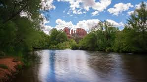 Cathedral Rock Reflections At Sunset Red Rock Crossing Time Lapse Of Cathedral Rock Over Reflecting Oak Creek At Red Rock
